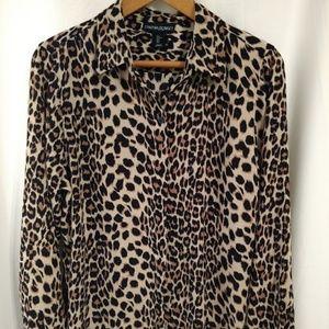Cynthia Rowley Women's Leopard Print Blouse